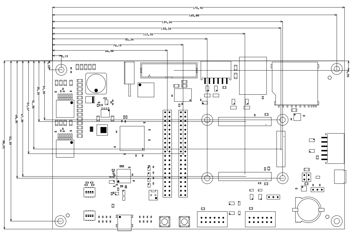 Te0705 Trm Public Docs Trenz Electronic Wiki Rj45 Wiring Diagram Also Furthermore Power All Dimensions Are Given In Millimeters